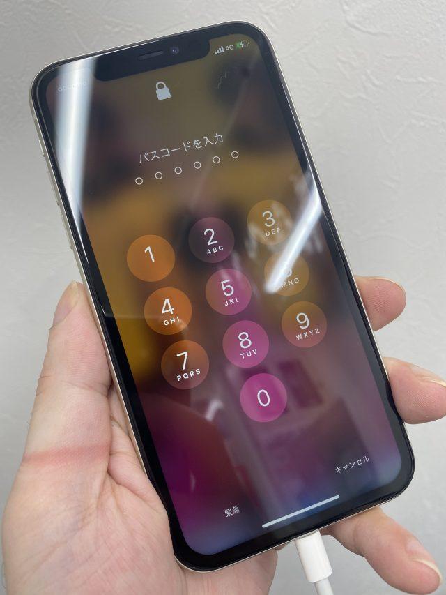 画面修理後正常に画面表示ができるようになったiPhone11