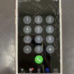 割れたiPhoneでも操作は可能!?意外にも問題なく使用は出来るが…。【仙台市内よりiPhone8画面修理のご依頼】