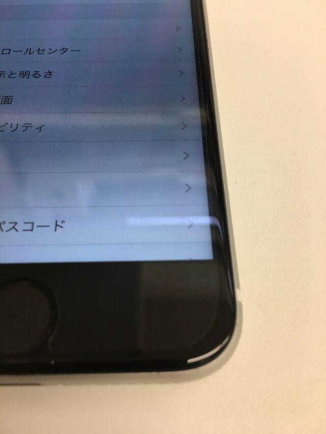 iPhone8 画面交換後 下部