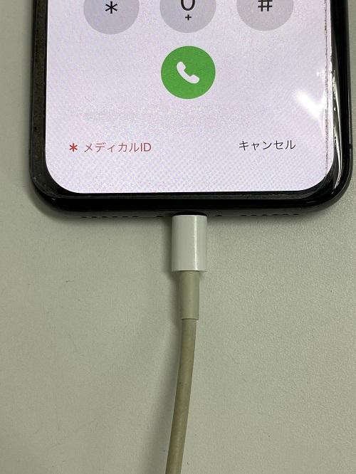 充電器がきちんと刺さるようになったiPhone8
